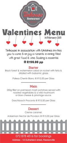Tinhouse - Valentines DL Menu